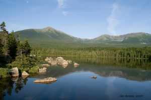 Mt Katahdin  Sandy Stream Pond Reflection