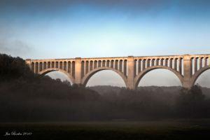 Tunkhannock Viaduct with Mist