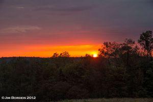 Setting Sun near Springville PA