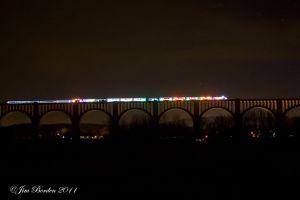 Christmas Train on Tunkhannock Viaduct