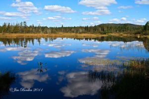 Cloud Reflection in North Maine Lake
