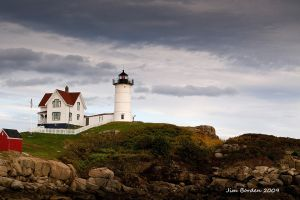 Stormy Skies Over Nubble Light House