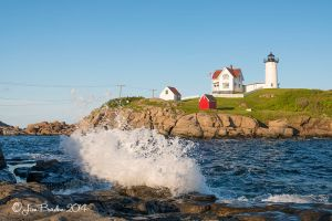 Crashing wave at Nubble light