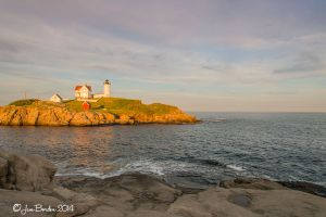 Golden Light on Nubble light