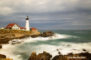 Stormy Seas at Portland Head Light